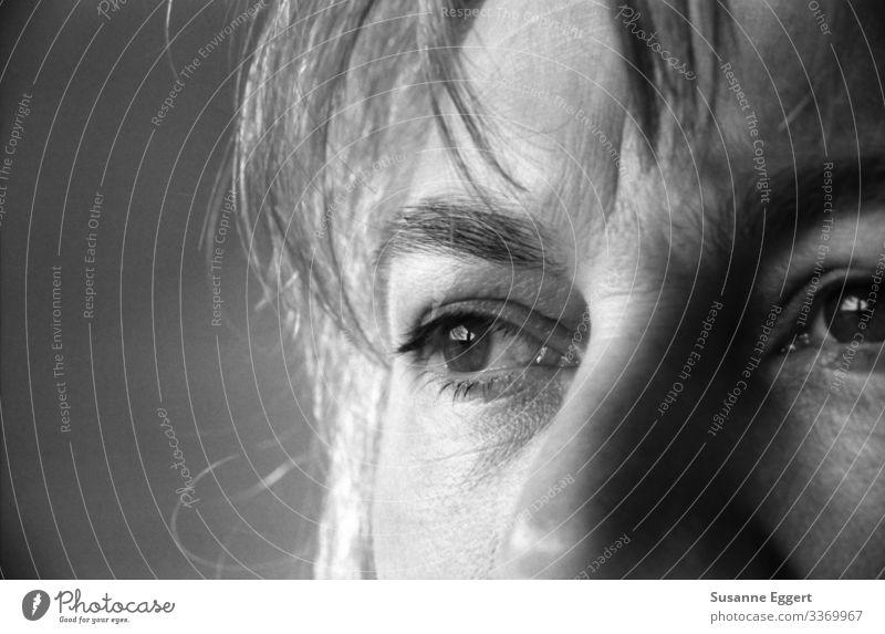 Augenblick feminin Frau Erwachsene Gesicht Nase 1 Mensch 30-45 Jahre träumen natürlich Akzeptanz Vertrauen Verantwortung achtsam Vorsicht Gelassenheit geduldig