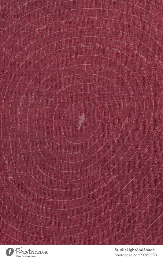 Dunkelroter Leinwandhintergrund Stoff dunkel natürlich Farbe Textil Konsistenz texturiert Material Leinen Hintergrund kirschrot weinrot Gewinde mit Gewinde