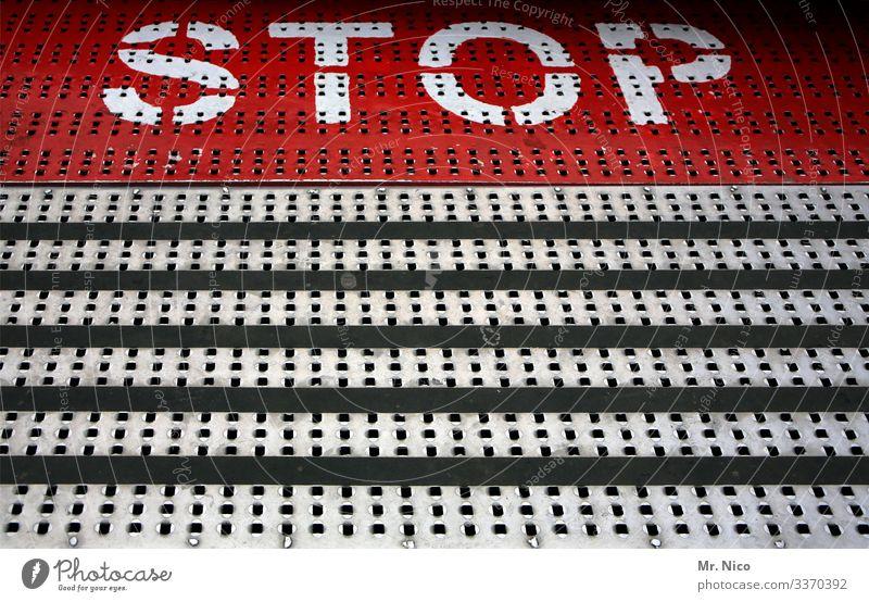 Stop Halt rot Gefahr Symbole & Metaphern Schriftzeichen Schilder & Markierungen Rutschgefahr Hinweisschild Warnschild Jahrmarkt Kirmes Karussell