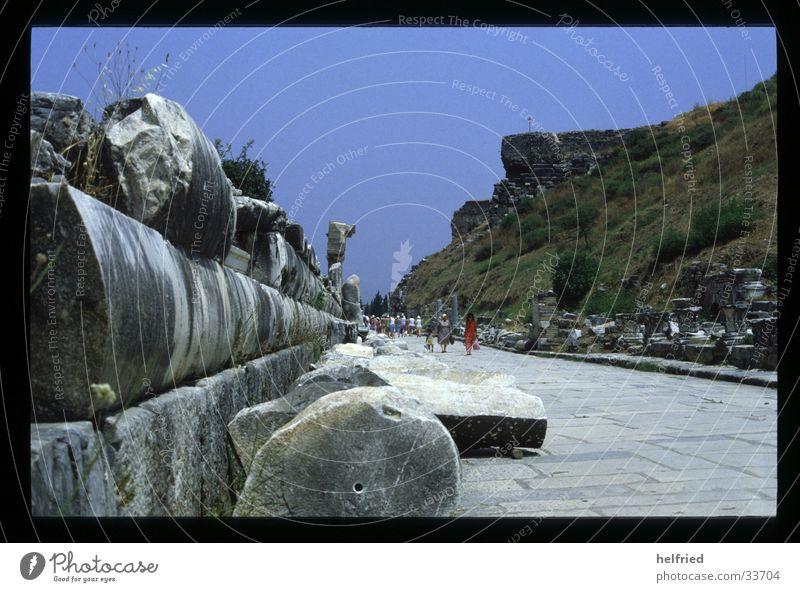 kuretenstrasse Vergangenheit historisch Türkei Archäologie Ephesos