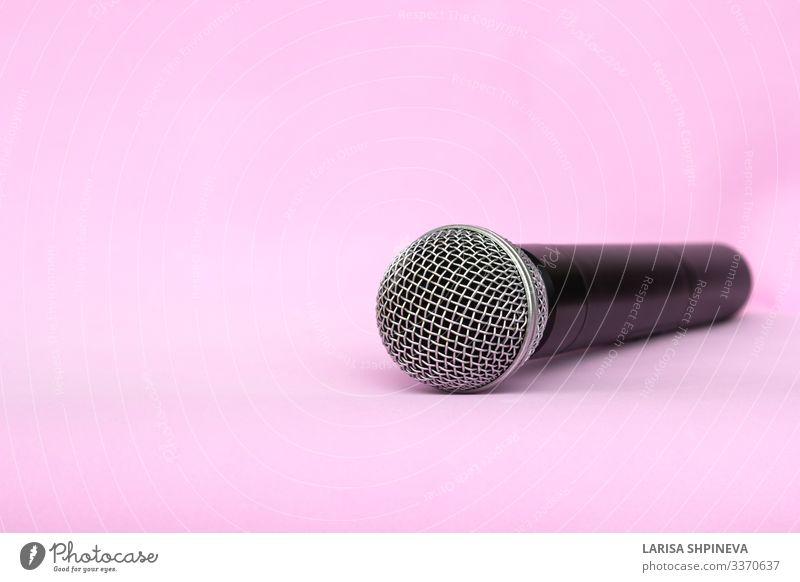 Drahtloses Silbermikrofon für Karaoke Stil Freizeit & Hobby Entertainment Musik sprechen Technik & Technologie Konzert Sänger Medien Metall Kommunizieren stehen