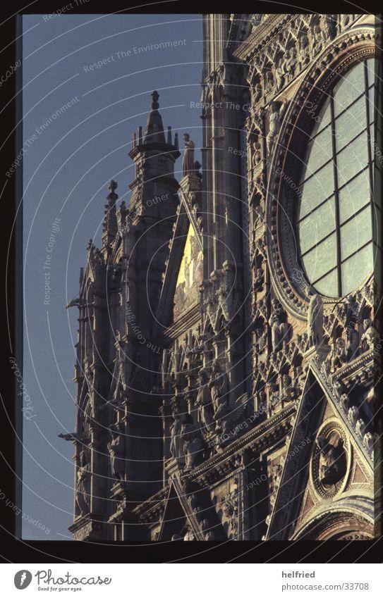 duomo di siena Italien Europa Toskana Orvieto Gotik Dom von Pisa Architektur Detailaufnahme Vorderseite