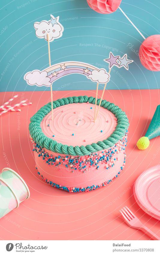 Geburtstagskuchen für Jungen und Mädchen mit Brille Dessert Teller Gabel Dekoration & Verzierung Feste & Feiern Kind Diät Jahrestag Babyparty Hintergrund