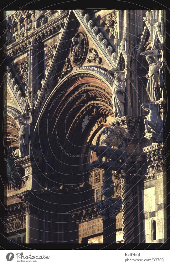 duomo di siena Architektur Europa Italien Gotik Pisa Toskana Portal Marmor Siena Dom von Pisa