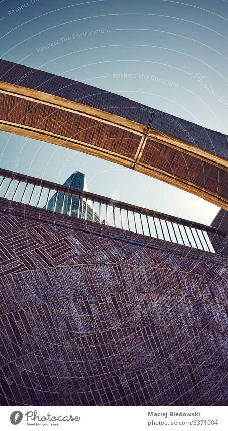 Details zur Architektur von New York City. Himmel Brücke Gebäude Mauer Wand retro geheimnisvoll Idee einzigartig Nostalgie Traurigkeit Großstadt Hintergrund