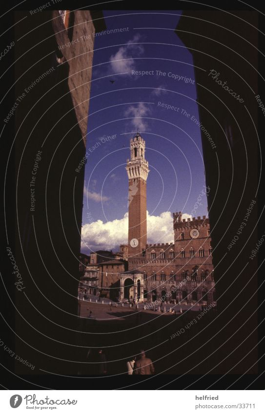 palazzo vecchio Europa Italien Toskana Architektur Siena corso di palio