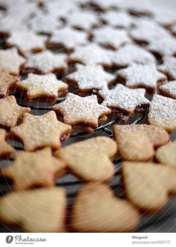 5-Sterne-Rezension Weihnachten & Advent weiß Lebensmittel Ernährung süß Stern (Symbol) Kochen & Garen & Backen Küche lecker Süßwaren Zucker Dessert Plätzchen