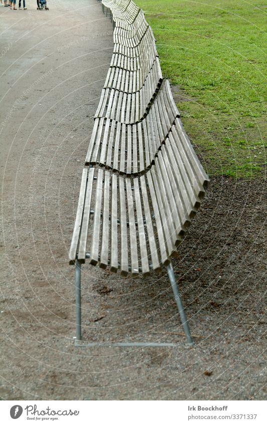 Stadt grün Erholung Holz Senior Wege & Pfade Wiese Tourismus braun Ausflug Park sitzen trist Pause Dorf Bank