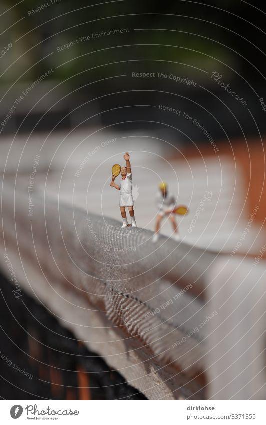 """Gemischtes Doppel sportlich Fitness Freizeit & Hobby Spielen Sport Ballsport Sportler """"Tennis,Tennisschläger Tennisnetz"""" Gesundheit weiß Freude Aufschlag"""