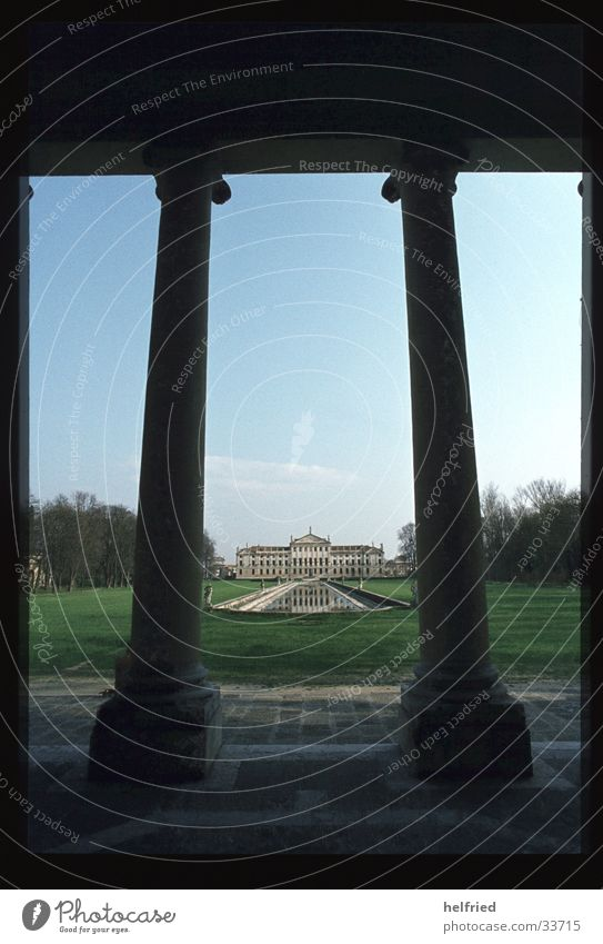 villa stra Park Architektur Perspektive Europa Italien Burg oder Schloss Villa
