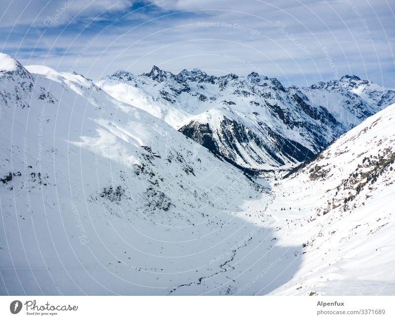 Eiszeit | Pitztal Umwelt Natur Landschaft Urelemente Klima Klimawandel Schönes Wetter Frost Schnee Hügel Felsen Alpen Berge u. Gebirge Gipfel