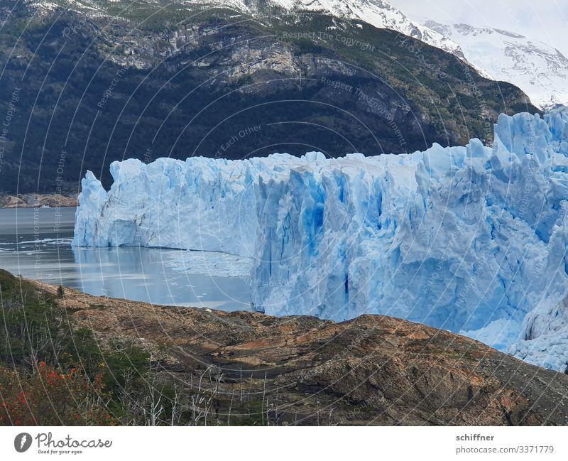 Argentinische | Eiszeit III Natur blau Landschaft Berge u. Gebirge Umwelt kalt Schnee außergewöhnlich Felsen Klima Schneebedeckte Gipfel Frost Gletscher