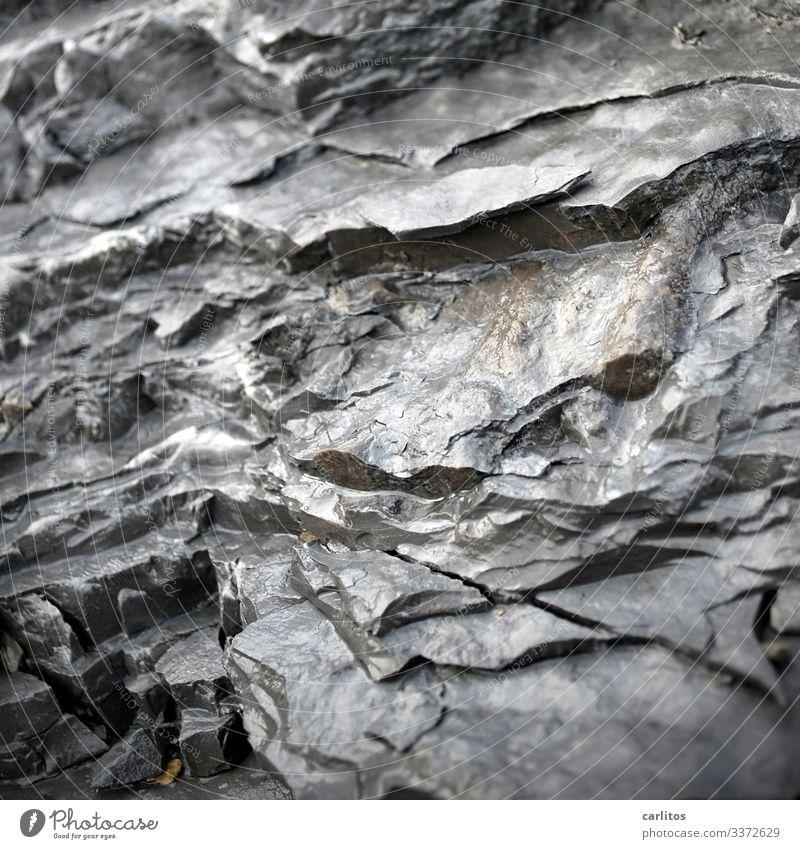 Struktur 11.11 Stein Strukturen & Formen Bruch Farbe feucht glänzend grau