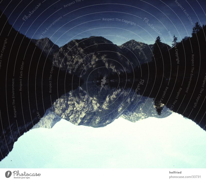 Landschaftsspiegel Spiegel Berge u. Gebirge Wasser Klarheit