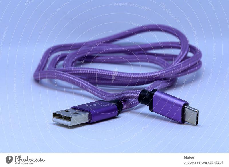 USB-Ladekabel für Smartphone und Tablet Batterie Kabel Elektrizität Ladung Ware Energie Handy laden PDA Tablet Computer Technik & Technologie Schnittstelle