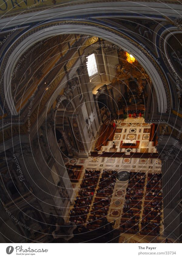 Petersdom von innen Rom Italien Ameise Architektur Pay Huld Päpste Religion & Glaube Dom Erdbeeren