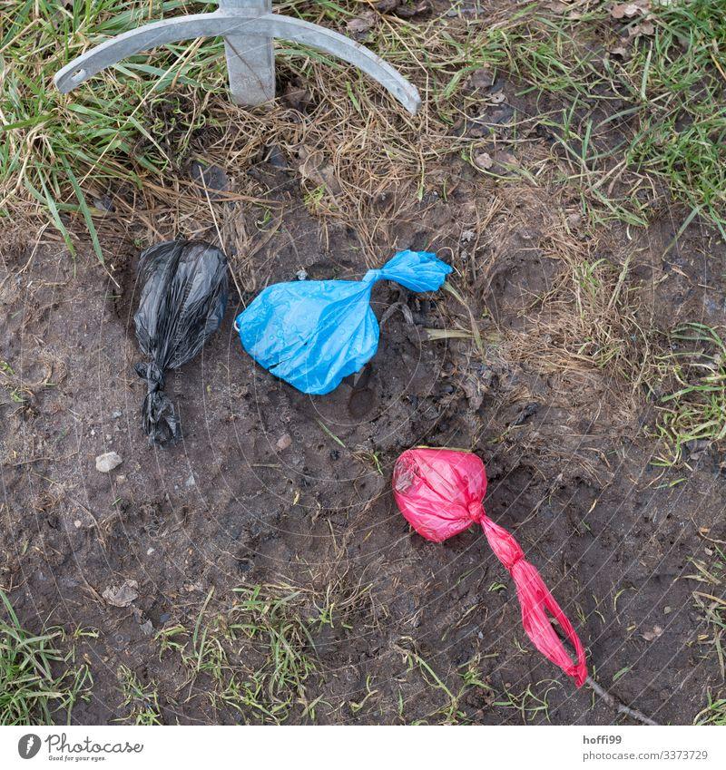 """Hundekot im Beutel Kot Abfall Umweltbelastung Rücksichtlos Verschmutzung Umweltverschmutzung tier"""" unhygienisch Scheiße hundescheiße ekelhaft schmutzig bunt"""