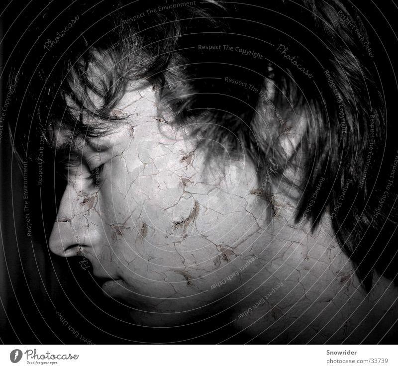 The Day After Mann weiß schwarz Haare & Frisuren Falte trocken Riss