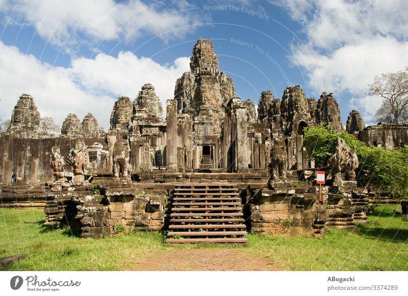 Bayon-Tempel in Kambodscha Ferien & Urlaub & Reisen Tourismus Ausflug Abenteuer Kultur Asien Südostasien Ruine Gebäude Architektur Denkmal alt historisch