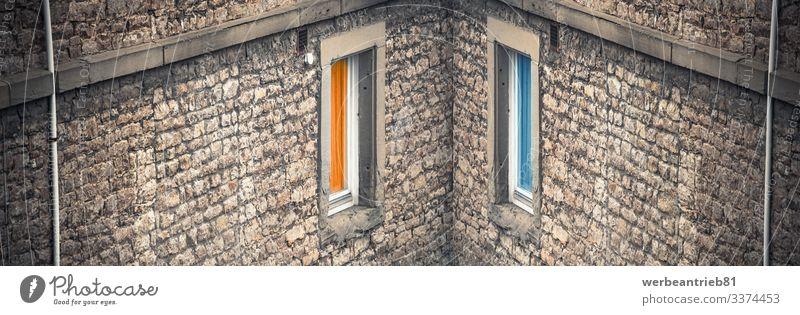 Falsche Symmetrie Stil Design schön Dekoration & Verzierung Kunst Architektur Fassade träumen außergewöhnlich einzigartig lustig modern blau Kreativität