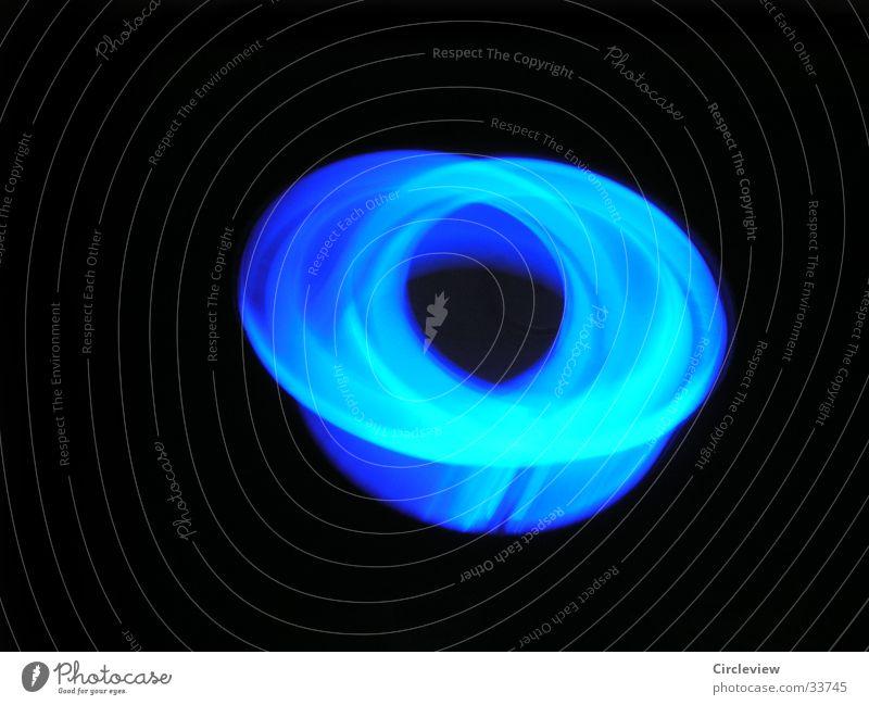 schwindelig Licht schwarz Geschwindigkeit Langzeitbelichtung Kreis blau Linie Strukturen & Formen Unschärfe