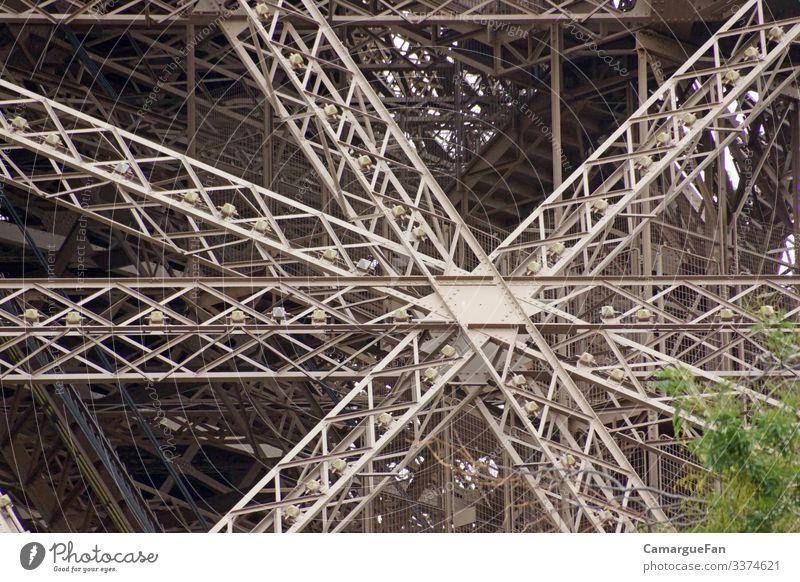Metallgewirr Bauwerk Architektur Sehenswürdigkeit Linie fantastisch historisch stark braun grau grün Reisefotografie Paris Farbfoto Außenaufnahme Detailaufnahme