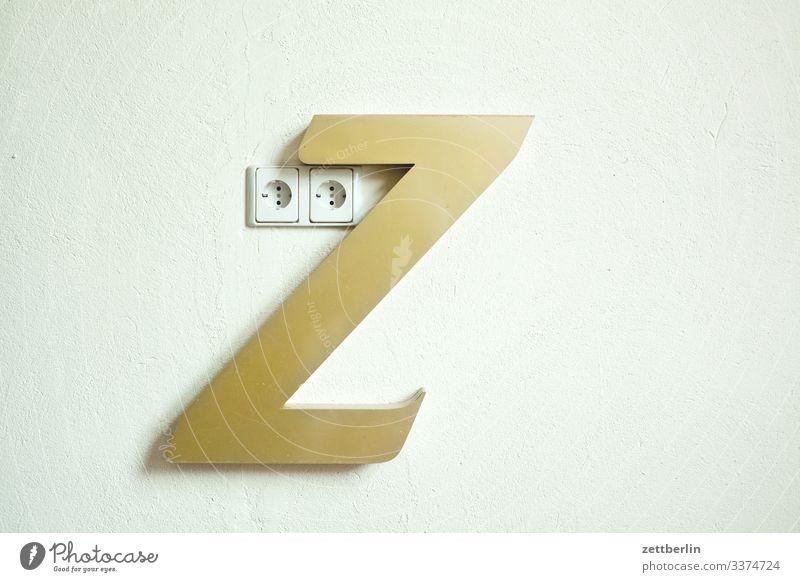 Z Buchstaben einzelbuchstabe Kabel Elektromonteur Elektronik Infrastruktur schuko sparen Steckdose Stecker Elektrizität stromleitung Energiewirtschaft
