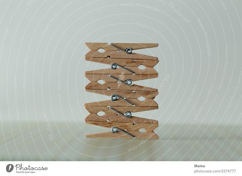 Konstruktion von hölzernen Wäscheklammern Hintergrundbild Holz Konzepte & Themen Design Kreativität Strukturen & Formen Symbole & Metaphern Klemme