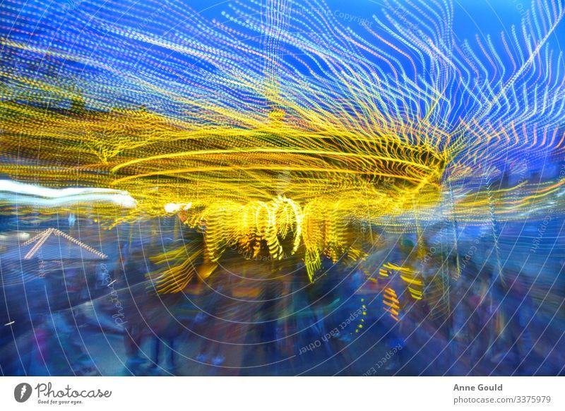 Abstrakte Karussell-Lichtshow Freude Freizeit & Hobby Abenteuer Freiheit Sightseeing Städtereise Nachtleben Entertainment Veranstaltung ausgehen Feste & Feiern