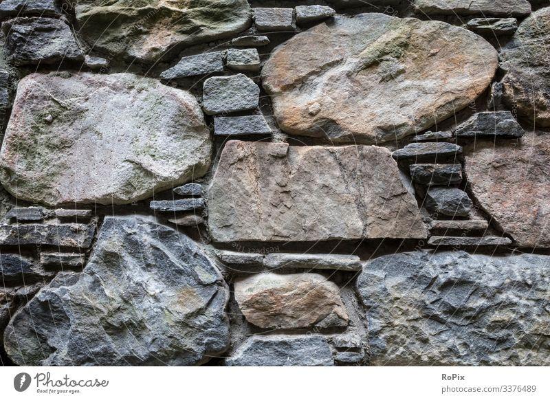 Detail einer historischen Mauer. Steinblöcke Wand Wallanlage Festung Sandstein Architektur Stadtmauer urban Lastwagen Burg oder Schloss Maurerhandwerk