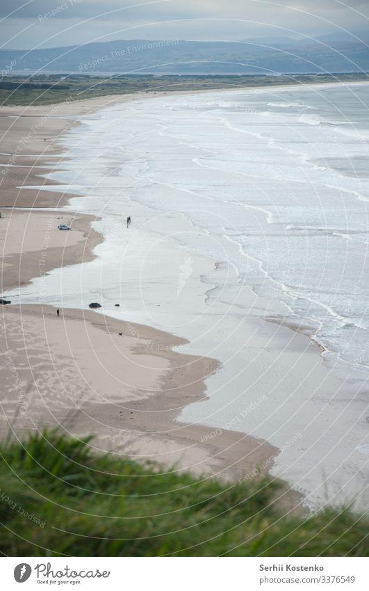 Strand von Northen Meer Meeresstrand Küste Wasser Ferien & Urlaub & Reisen Republik Irland Wellen Natur Landschaft Sand Farbfoto