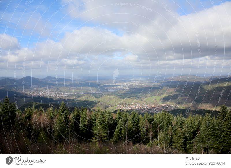 Teufelsmühle Ferien & Urlaub & Reisen Tourismus Ausflug Berge u. Gebirge wandern Natur Landschaft Himmel Wolken Horizont Baum Wald Hügel Gaggenau Umwelt Ferne