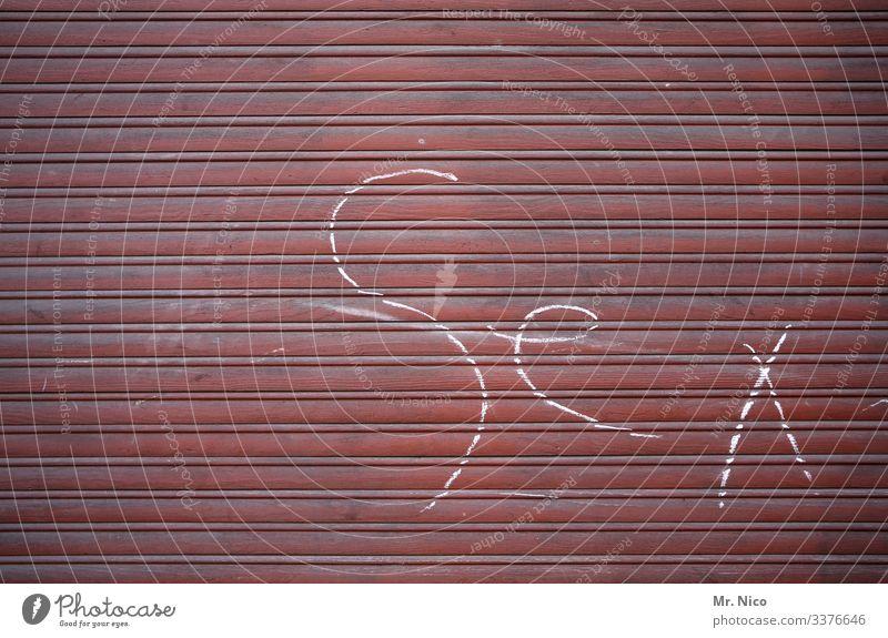Sex Rolladen geschlossen Fenster Sicherheit Graffiti Buchstaben Streifen dreckig Schriftzeichen Typographie Pubertät Sexuelle Neigung Sexualität bizarr Liebe