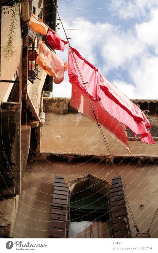 Venedig | Buntwäsche Ferien & Urlaub & Reisen Sommer Wolken Haus Wand Mauer Autofenster Wetter Tourismus Häusliches Leben Schönes Wetter Bekleidung Reinigen