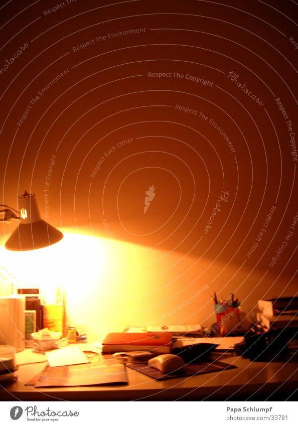 Nachtarbeitsplatz Lampe Schreibtisch Dienstleistungsgewerbe Arbeitsplatz Tischlampe
