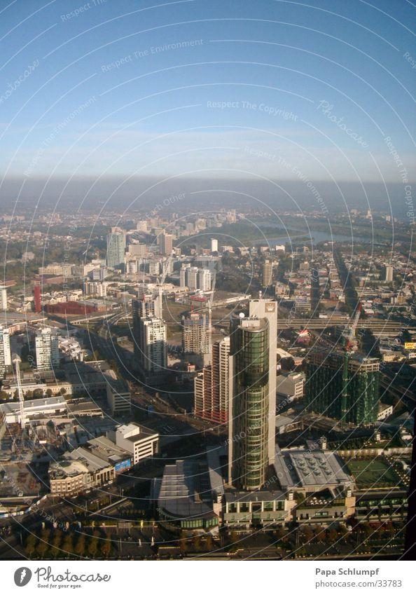 Melbourne Sonne Stadt Aussicht Turm Australien Rialto Tower