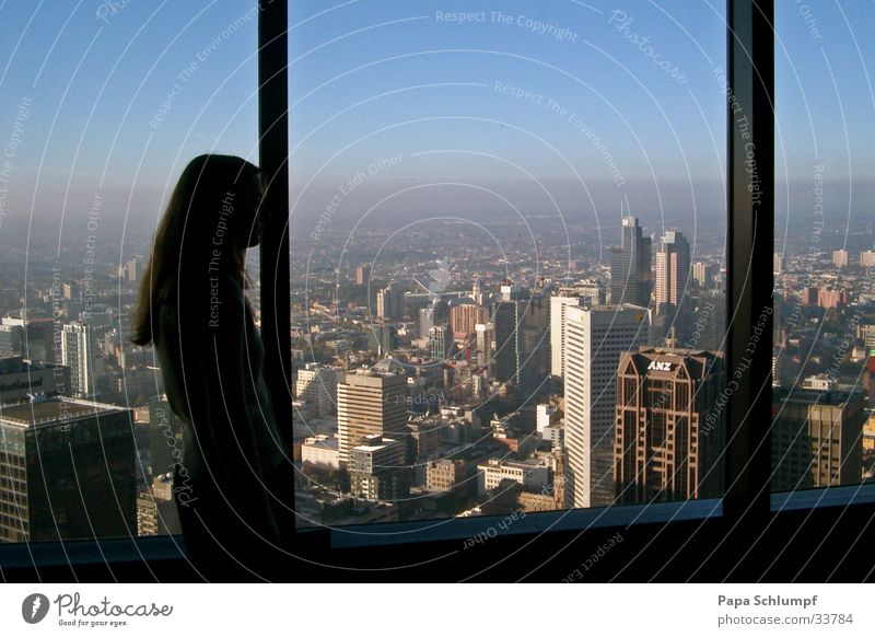 Rialto Tower Melbourne Sonne Stadt groß Aussicht Turm Skyline Australien Melbourne Rialto Tower