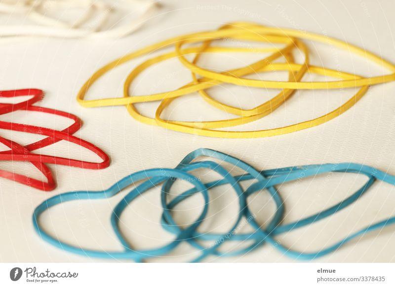 Schnippsgummis Spielen Dekoration & Verzierung Gummiband Gummiring Haargummi liegen dünn mehrfarbig Freude Design Farbe Inspiration Kreativität Ordnung