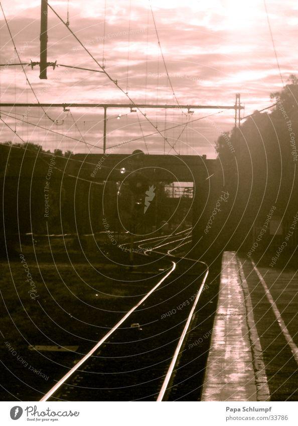 Endstation Williamstown Wärme Eisenbahn Physik heiß Gleise Australien Nachmittag Melbourne