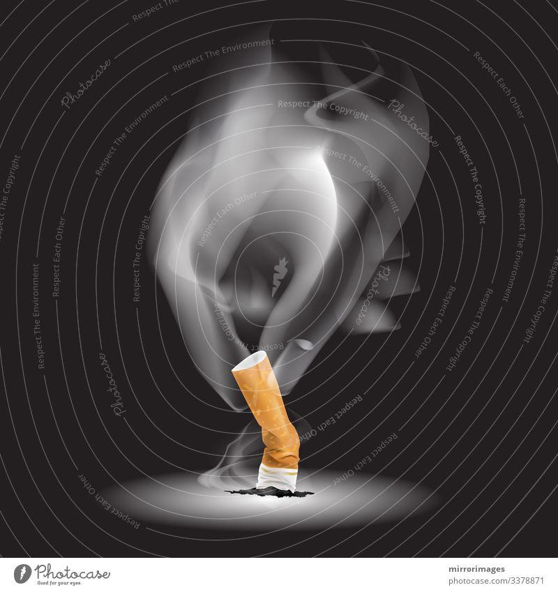der Rauch der brennenden Dämpfe beim Ausdrücken einer Zigarette Lifestyle Körperpflege Haut Gesundheit Rauchen Rauschmittel Wellness Erwachsenenbildung Leben
