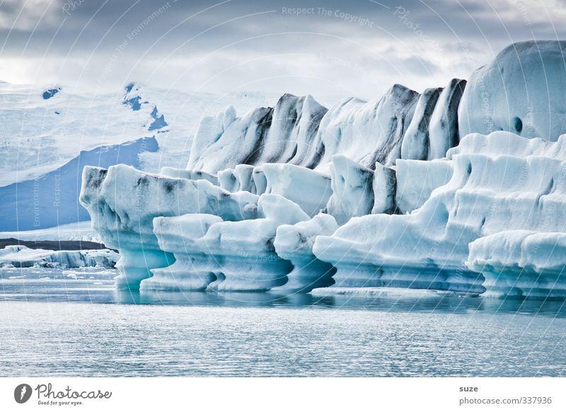 Eiswelten Himmel Natur Ferien & Urlaub & Reisen blau Wasser weiß Meer Einsamkeit Landschaft Wolken Winter Umwelt kalt außergewöhnlich Horizont