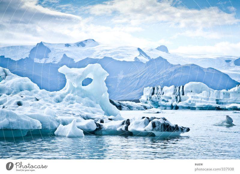 Cool Water Himmel Natur Ferien & Urlaub & Reisen blau Wasser weiß Meer Einsamkeit Landschaft Wolken Winter Umwelt kalt außergewöhnlich Horizont Eis