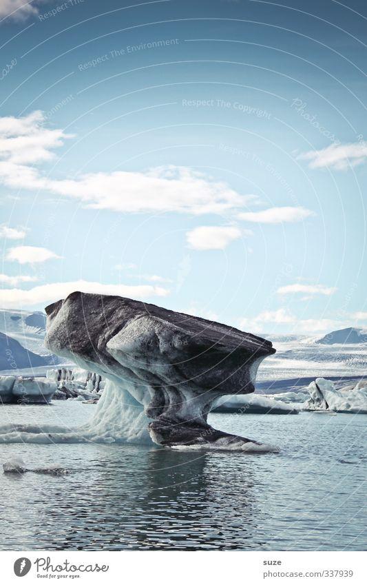 Amboss Ferien & Urlaub & Reisen Meer Winter Umwelt Natur Landschaft Urelemente Wasser Himmel Wolken Horizont Klima Klimawandel Eis Frost außergewöhnlich