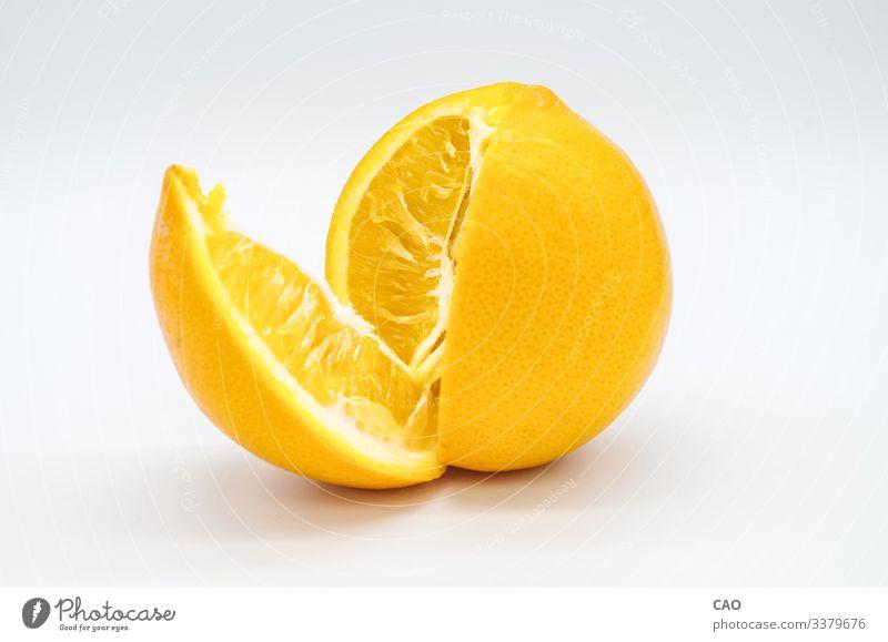 Eröffnung einer frischen und köstlichen süßen Orange - Nahaufnahme Frucht orange Dessert Bonbon Essen Nutzpflanze gelb Farbfoto Innenaufnahme Menschenleer