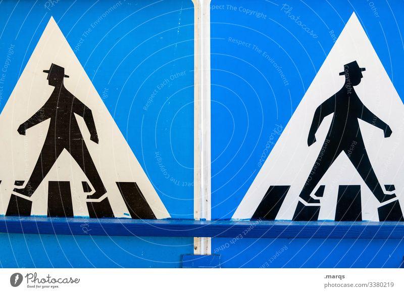 Social Distancing Schilder & Markierungen Verkehrsschild Fußgänger Fußgängerübergang Piktogramm gehen Trennung Gesellschaft (Soziologie) soziale distanz