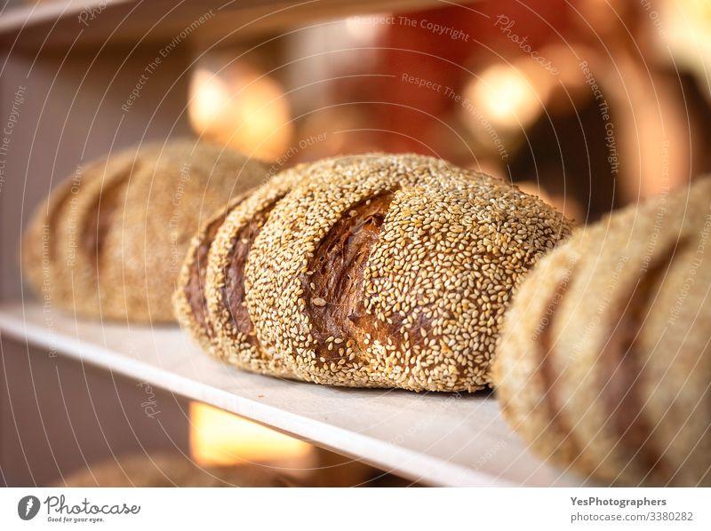 Brot Brötchen Ernährung kaufen Gesunde Ernährung Tradition Backwaren Bäckerei Schwarzbrot Kohlenhydrate Konsum Kruste knusprig Lebensmittel frisch gebacken