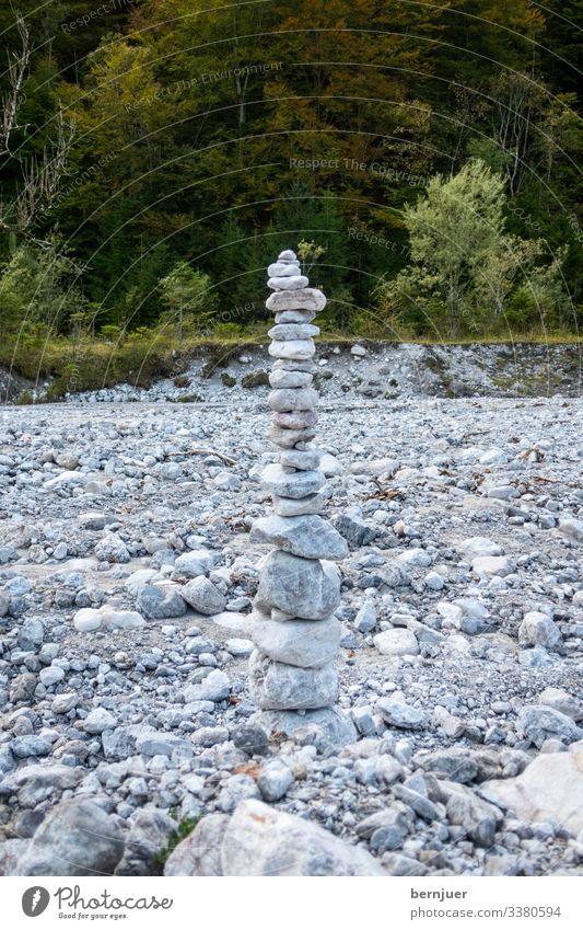 schön Wellness harmonisch Wohlgefühl ruhig Meditation Massage Berge u. Gebirge Yoga Herbst Stein einfach friedlich Frieden Stoamanderl Steinmanderl Haufen