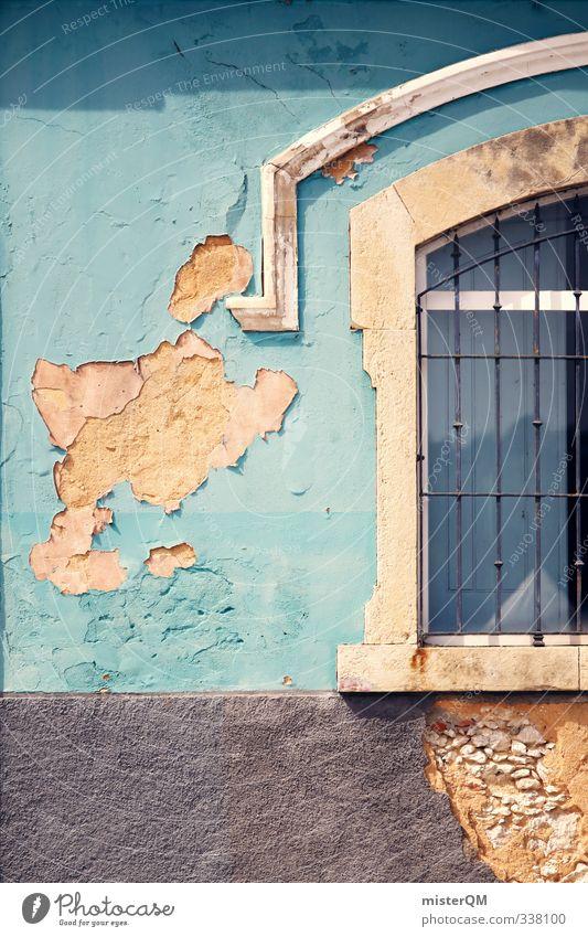 Da bröckelt's. Kunst Abenteuer Armut ästhetisch Design Einsamkeit Endzeitstimmung exotisch Klima Surrealismus Zeit Zerstörung Fassade Fassadenverkleidung