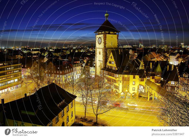 Blick auf Freiburg Ferien & Urlaub & Reisen Tourismus Sightseeing Städtereise Häusliches Leben Umwelt Himmel Freiburg im Breisgau Baden-Württemberg Deutschland