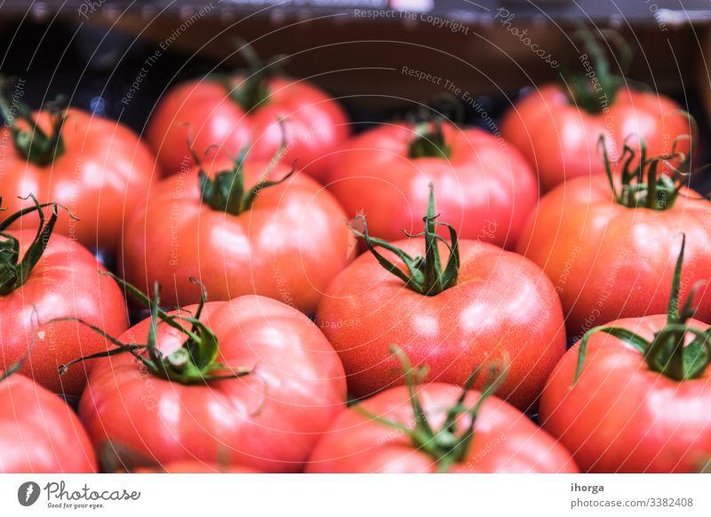 Ausstellung wunderbarer roter Tomaten Saft Ackerbau Hintergrund Getränk Nahaufnahme farbenfroh Konzept Essen zubereiten lecker Diät essen Lebensmittel frisch